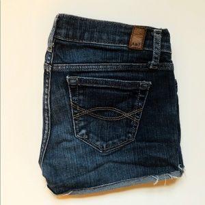 A&F Dark Blue Jean Shorts